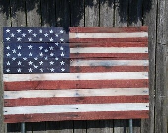 Outdoor American Flag Decoration