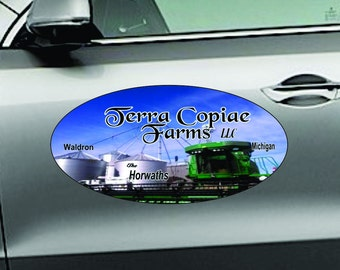 "Car Magnets - Oval 12x24"" - 2 pcs Magnetic Signs"