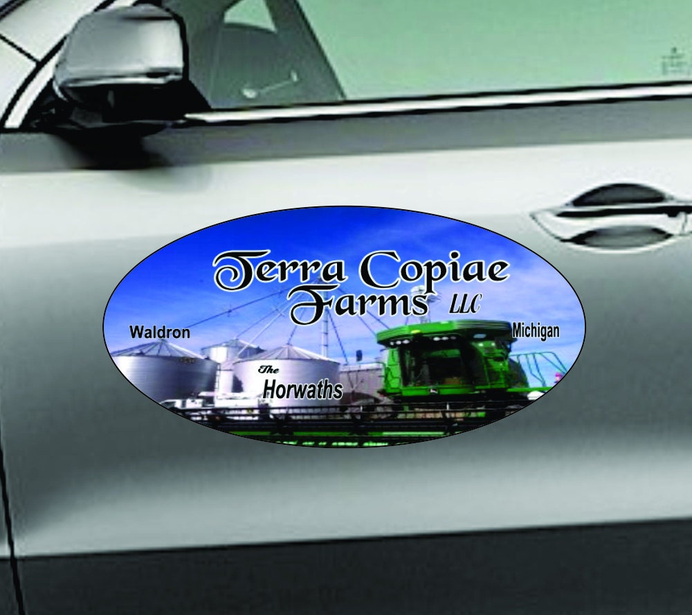 Car magnets oval 12x24 2 pcs magnetic signs for 12 x 24 car door magnets