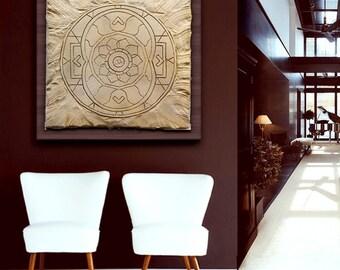 Art artificial stone, Mandala of abundance.