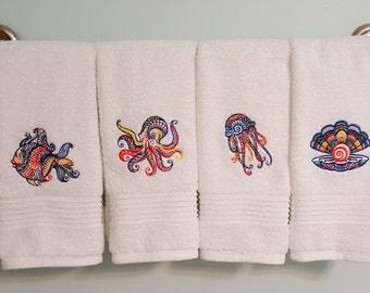 Aquatic Hand Towels