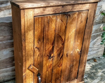 cabinet bathroom cabinet pine wall cabinet primitive cabinet