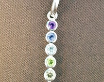 multi-colored gem pendant