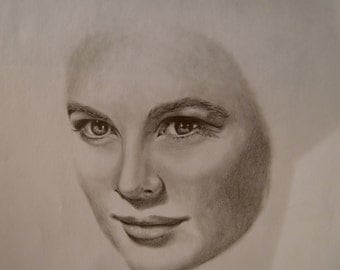 Grace Kelly portrait drawing
