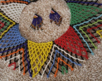 Ndebele African Necklace and earring set