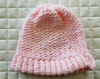 Pink Knit Baby Hat