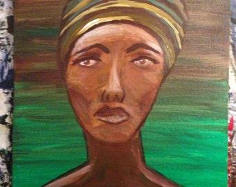 Ethnic Woman Painting