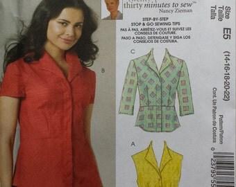 McCalls 6122 Shirt Sewing Pattern 14-22
