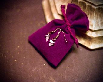 Handcrafted White Quartz Earrings