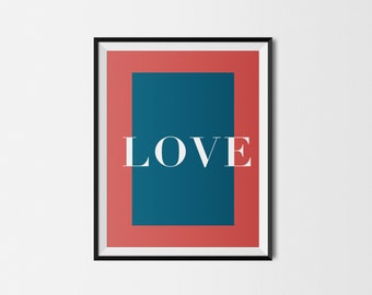 Love Colorblock Poster