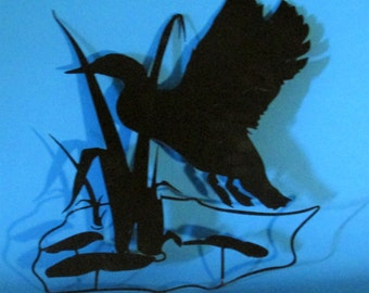 Duck, Water Fowl, Wall Art, Metal Art, Sportsman, HUnterHandmade, Custom Design