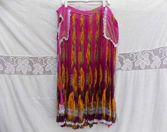 Real Gypsy skirt, cyclamen skirt, Beautiful skirt, dance skirt, vintage skirt, gypsy dance, gypsy symbol, women dress gypsy 00