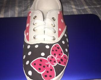 Minnie inspired slip on shoe