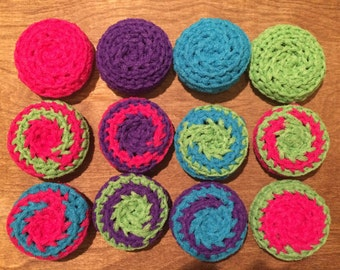 Assorted Color Nylon Scrubbies
