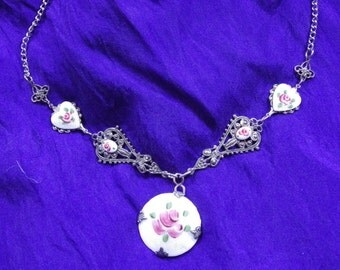 Roses and Hearts Necklace