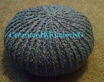 Medium crocheted Floor Pouf, Floor Pouf, Floor Pillow, Floor Cushion