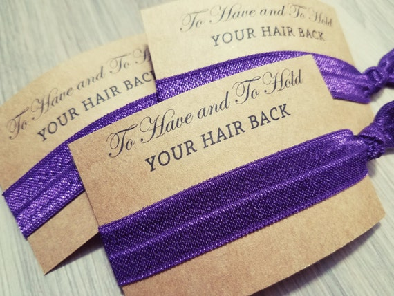 bachelorette party favors plum purple to have and to hold