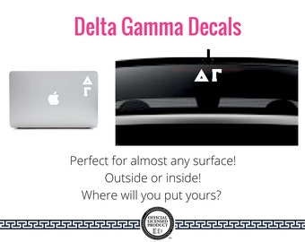 Delta Gamma Decal . Greek Car & Laptop Decal