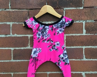 Fluro Floral Baby Playsuit