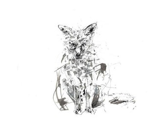 Silver Fox - greeting card