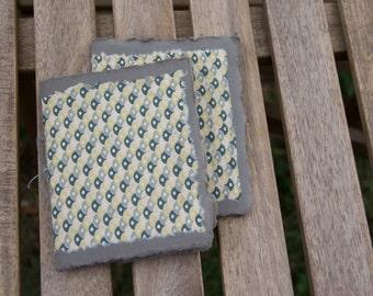 Art Deco Lokta Paper Notelets (Set of 2)  – Handmade Cotton Notebook – Pocket Journal