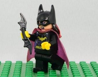 Batgirl Custom minifigure (Lego Compatible) DC Comics Batman Ally Superhero Barbara Gordon Gotham Arkham Asylum Dark Knight Rises Christmas