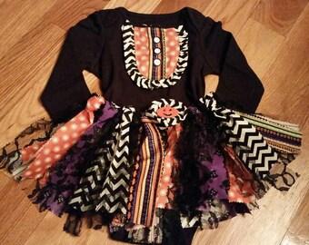 Halloween tutu and bibbed top set