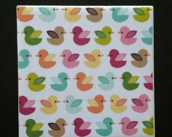 Colourful Bird Coasters