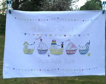 Tea Towel - A Sailor went to sea sea sea