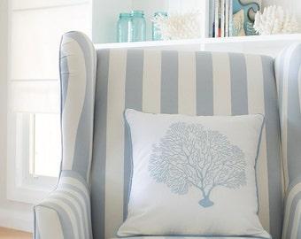 Seafan Cushion Cover - Sky Blue