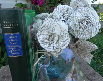 Book Flower, Anne of Green Gables, Kindred Spirits, Bouquet, Gift, Decoration, Friends, Wedding, Book club, Book lover