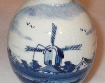 Miniature Delft Porcelain Vase