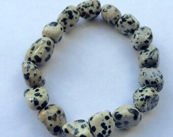 Dalmatian Tumbled Stones Bracelet