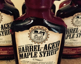 Rye Whiskey Barrel-Aged Maple Syrup