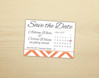 Geometric Square Save the Dates