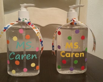 Personalized Hand Sanitizers
