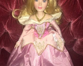 "Disney Aurora Porcelain 16"" Sleeping Beauty Doll"