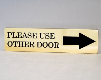 Please Use Other Door Engraved with Arrow Home Store or Office Plastic Sign  sc 1 st  Etsy & Arrow school sign   Etsy