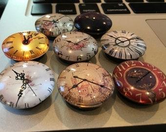 Clock Magnets (Set of 8)Fridge, Locker, Office,Kühlschrank,Цветы, magnete, aimant,magneet, magnético, imán, maighnéad,магнит
