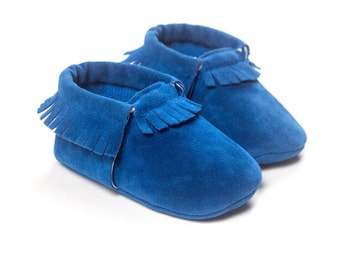Blue suede moccains