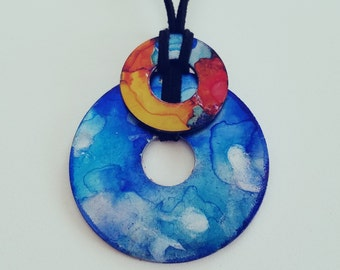 Dancing Watercolor (pendant necklace)