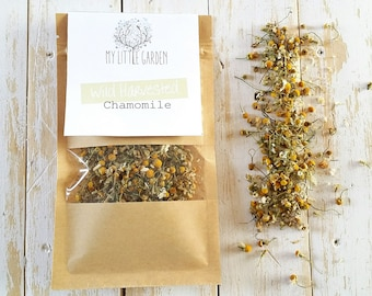 Organic Chamomile, Dried Chamomile, Chamomile Tea, Organic Tea, Handpicked Chamomile, Chamomile Blossoms, Herbal Tea, Botanical Tea