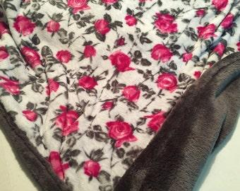 Pink rose blanket