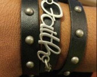 Wrap around studded bracelet