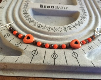 Autumn Hearts Bracelet