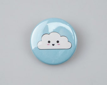 Kawaii Cloud Badge (38mm)