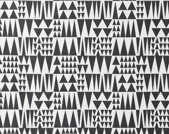 Black and white Fabric- Curtain Fabric- Geometric Fabric- Modern Fabric- Monochrome Fabric- Designer Fabric- Scandinavian Fabric- Modern