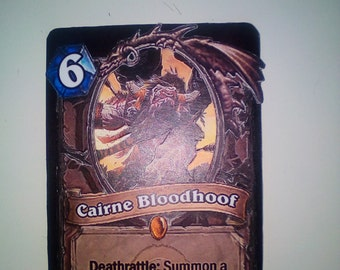 Hearthstone 3D Card (Cairne Bloodhoof) 100% hand-made