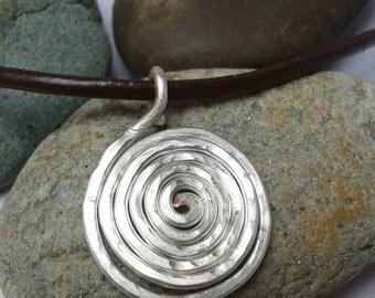 Silver celtic spiral necklace