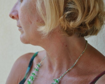"Necklace ""Emerald tree boa"", MADE IN ITALY"